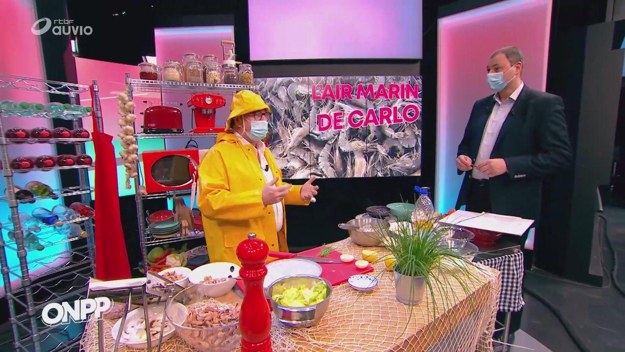 Salade de crevettes grises selon Carlo