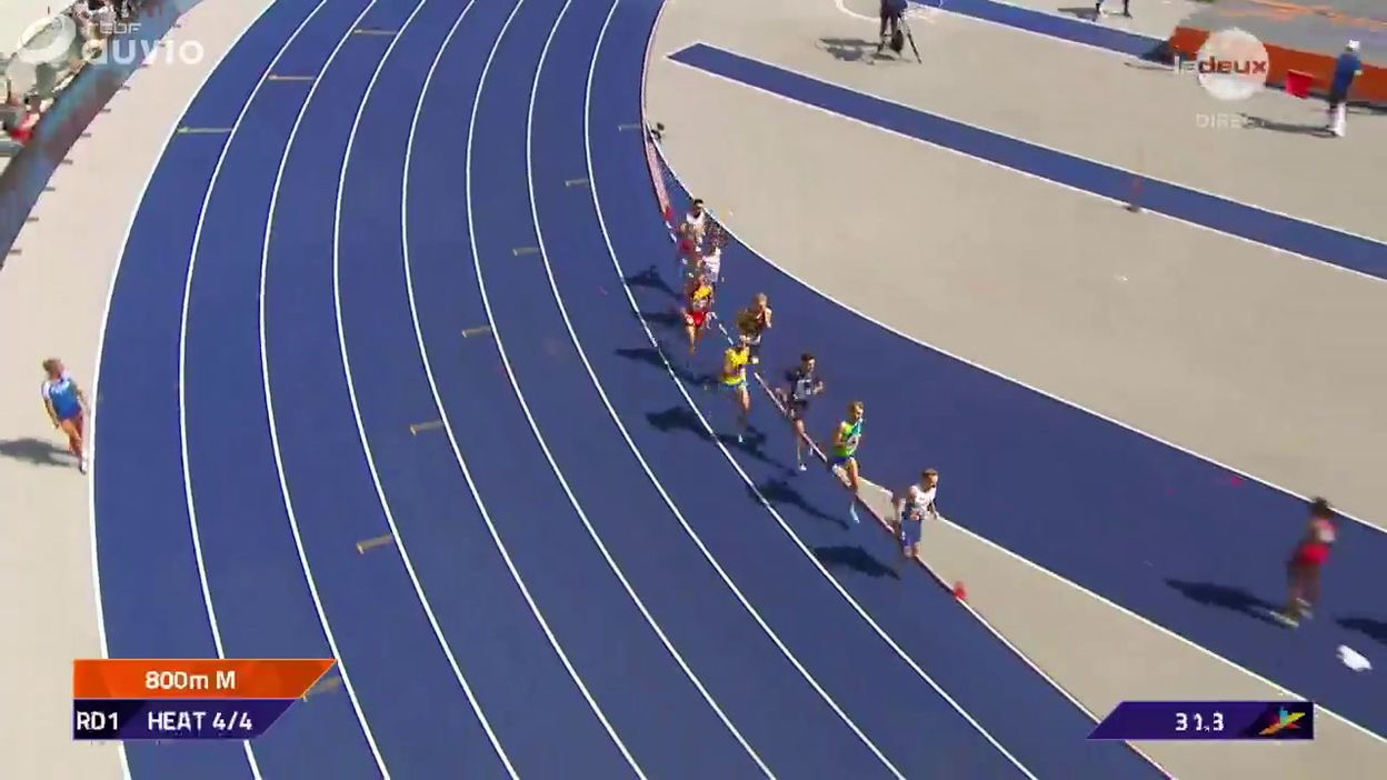 Eliott Crestan s'arrête en séries du 800m