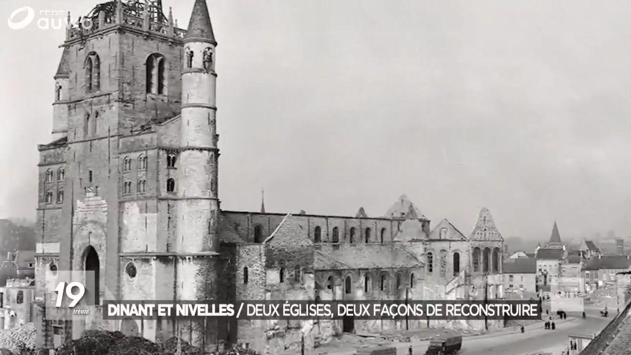 Dinant et Nivelles : comment nos collégiales ont été reconstruites?