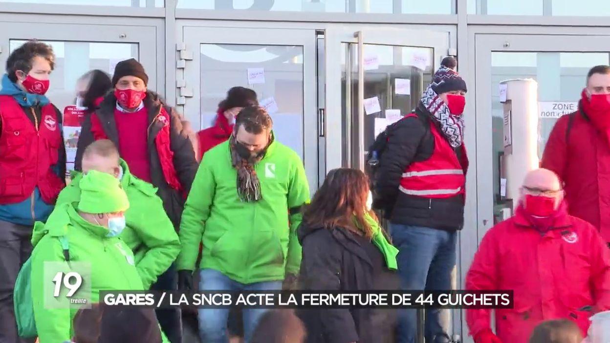Gares : La SNCB acte la fermeture de 44 guichets