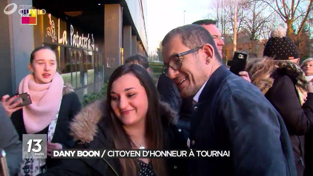 Dany Boon, citoyen d'honneur de la Ville de Tournai
