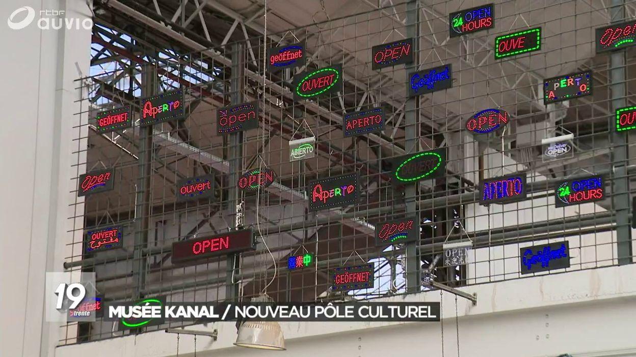 La visite du musée Kanal, nouveau pôle culturel de Bruxelles