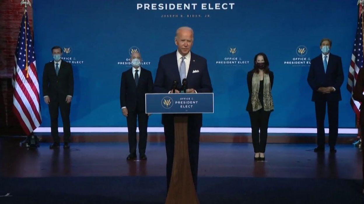 Joe Biden dit son équipe