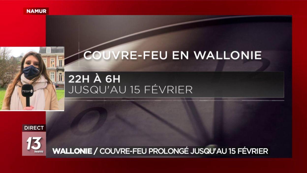 Wallonie: couvre-feu prolongé jusqu au 15 février