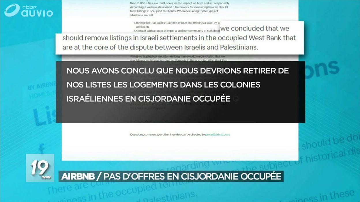 Airbnb se retire des colonies de Cisjordanie et provoque la colère d Israël