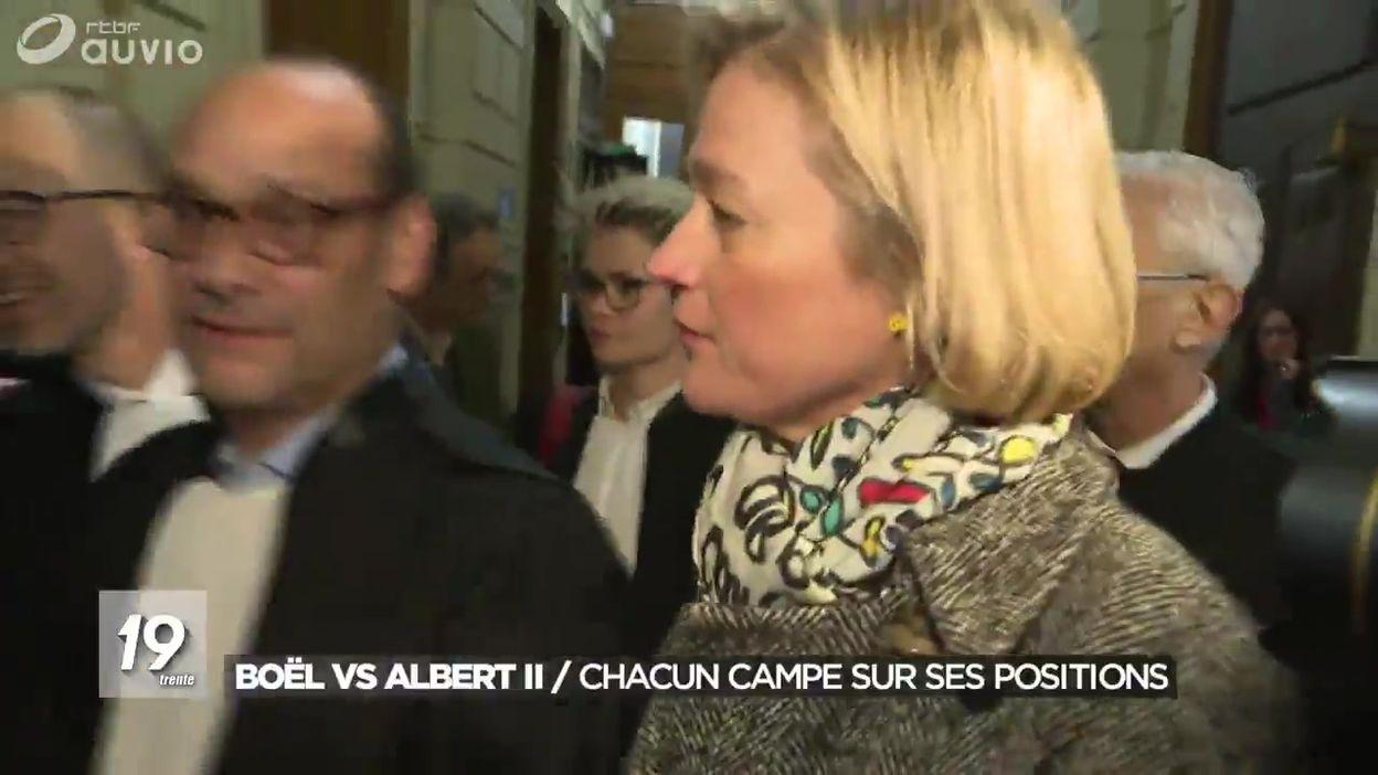 Bruxelles : Audience Delphine Boël VS Albert II