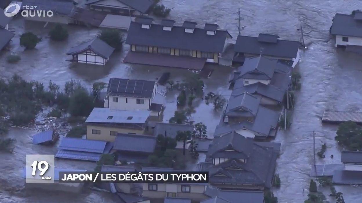 Japon : les dégâts du typhon