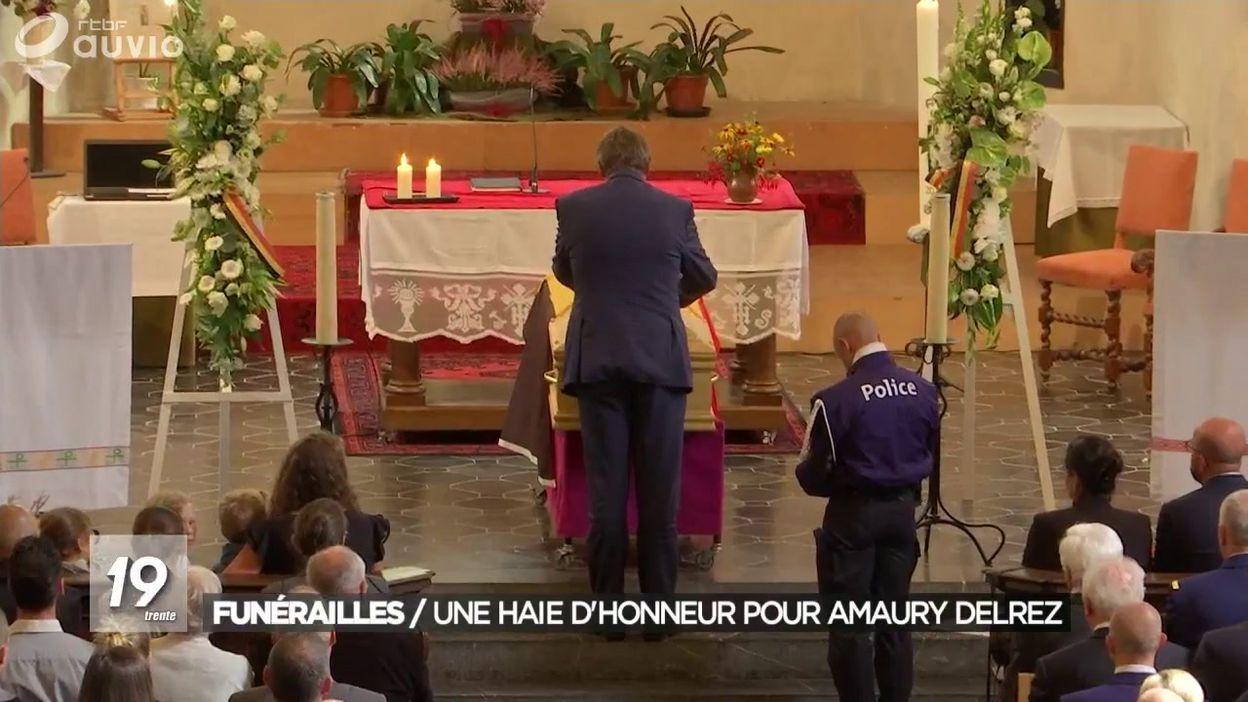 Funérailles d'Amaury Delrez : ses collègues lui ont rendu hommage