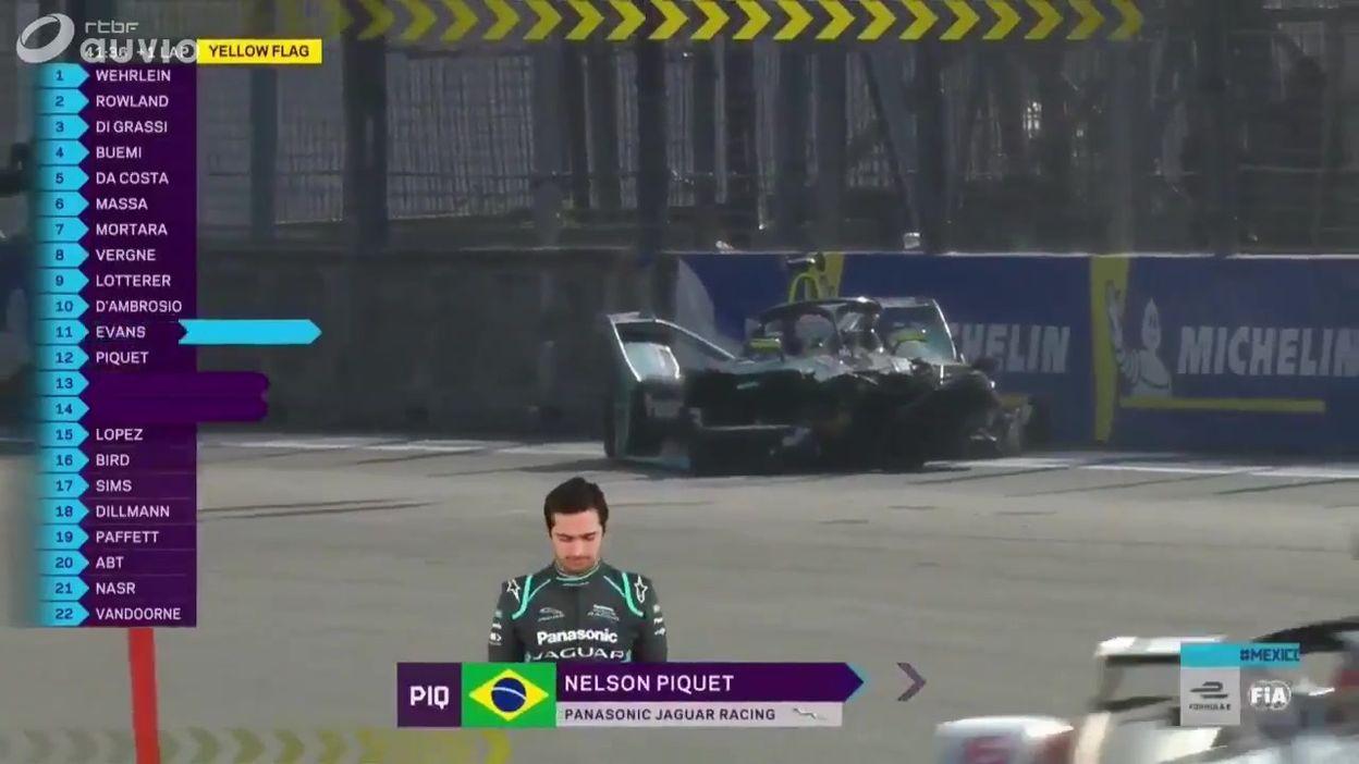 Gros Accident pour Piquet, course interrompue en Formula E
