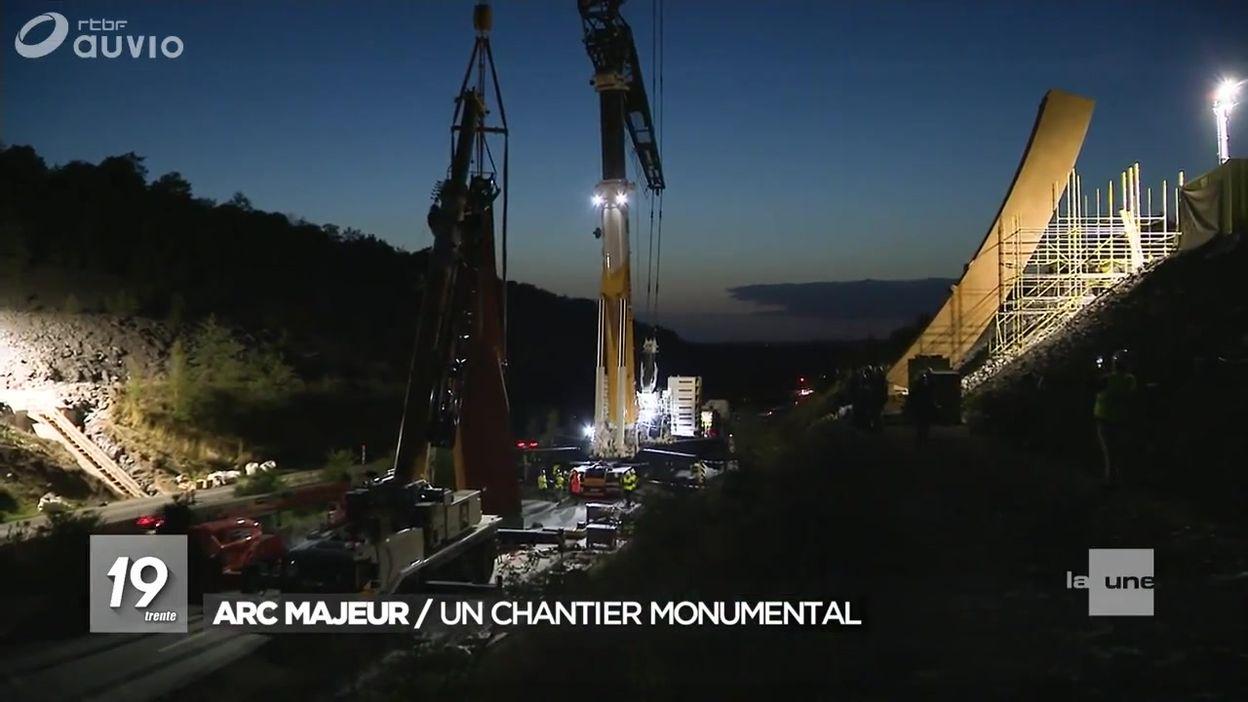 Installation de l'Arc majeur sur l'E411