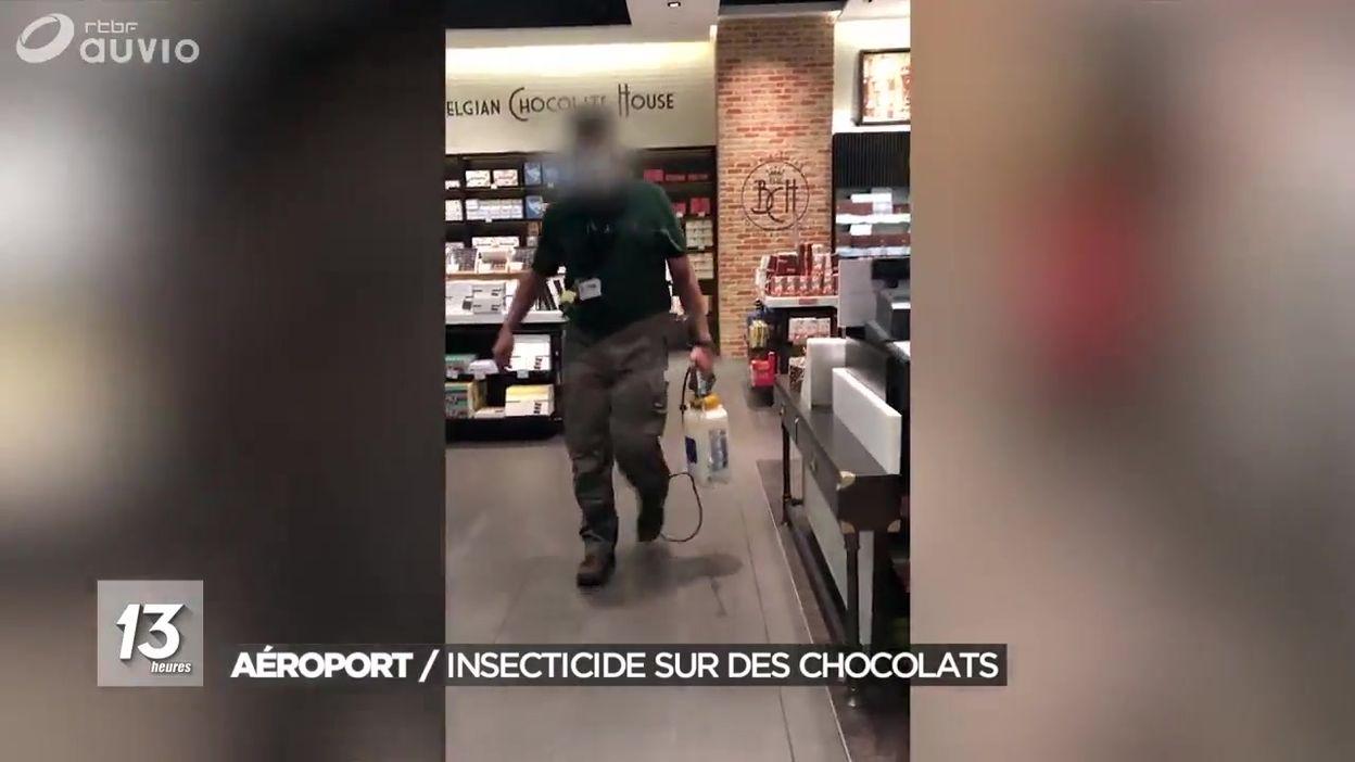 Aéroport de Zaventem : pulvérisation d'insecticide sur des chocolats
