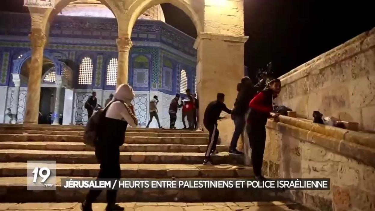 Jérusalem : Heurts entre Palestiniens et police israélienne