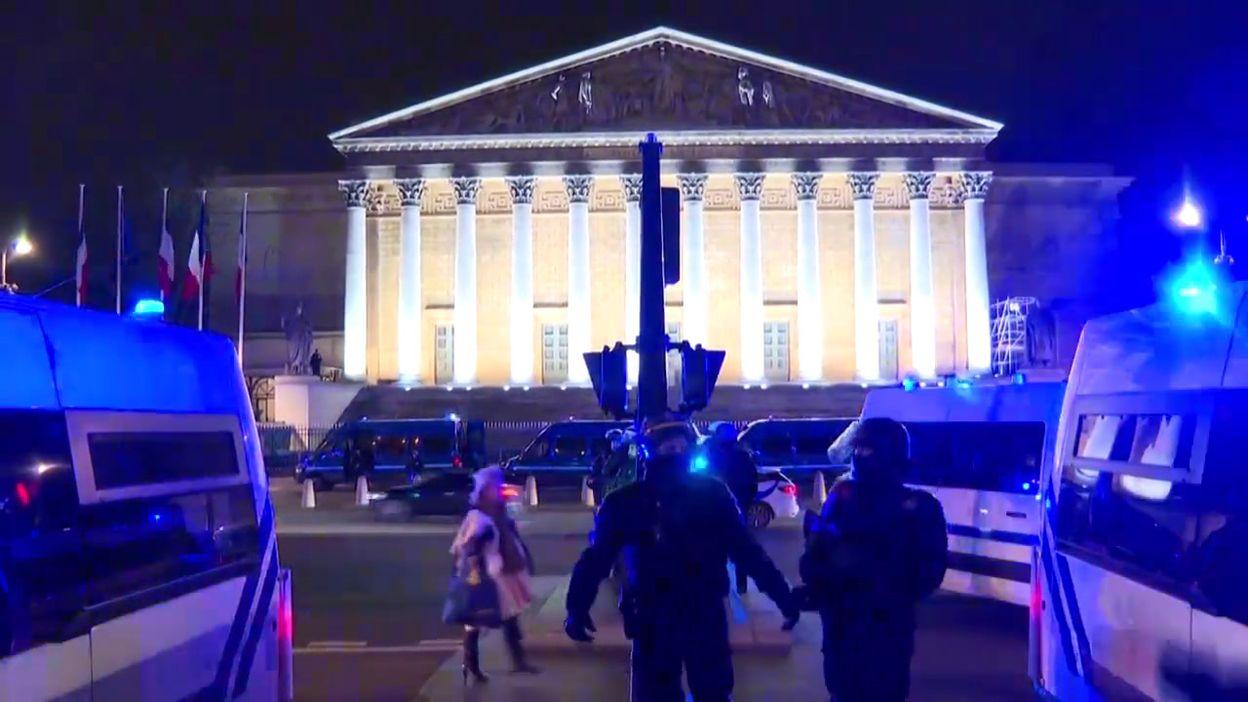 France: manifestation devant l'Assemblée nationale