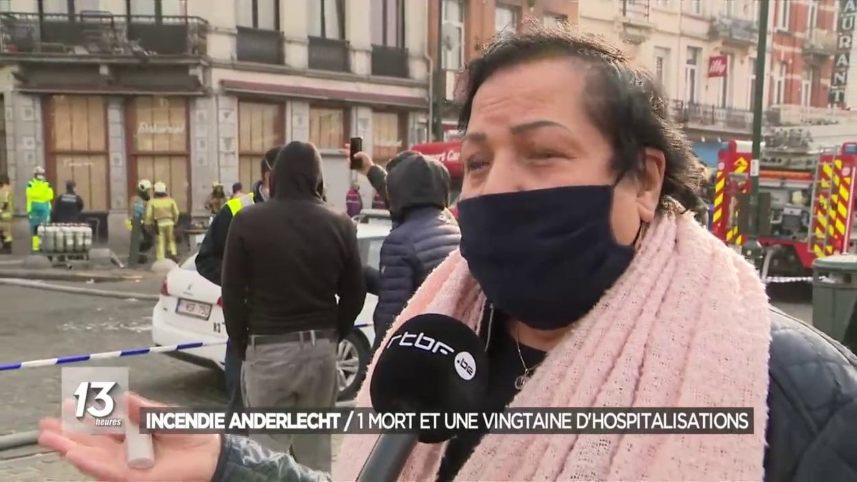 Incendie Anderlecht / 1 mort et une vingtaine d hospitalisations
