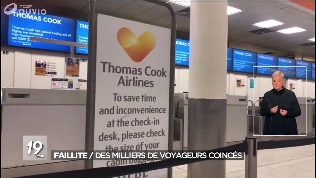 Faillite de Thomas Cook : des milliers de voyageurs coincés
