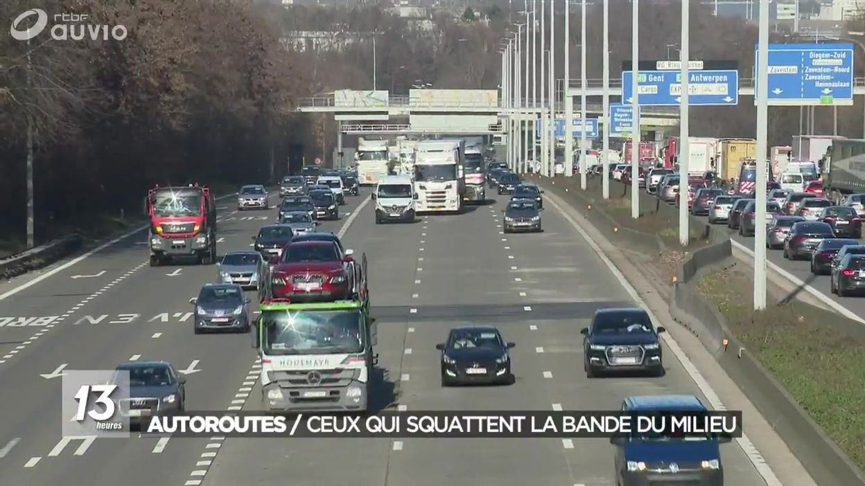 Autoroutes : rouler sur la bande du milieu sera sanctionné