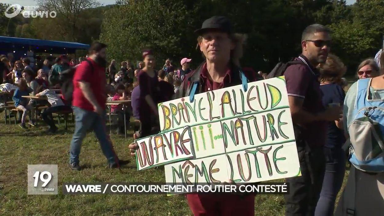 1200 personnes manifestent contre le projet du contournement Nord de Wavre