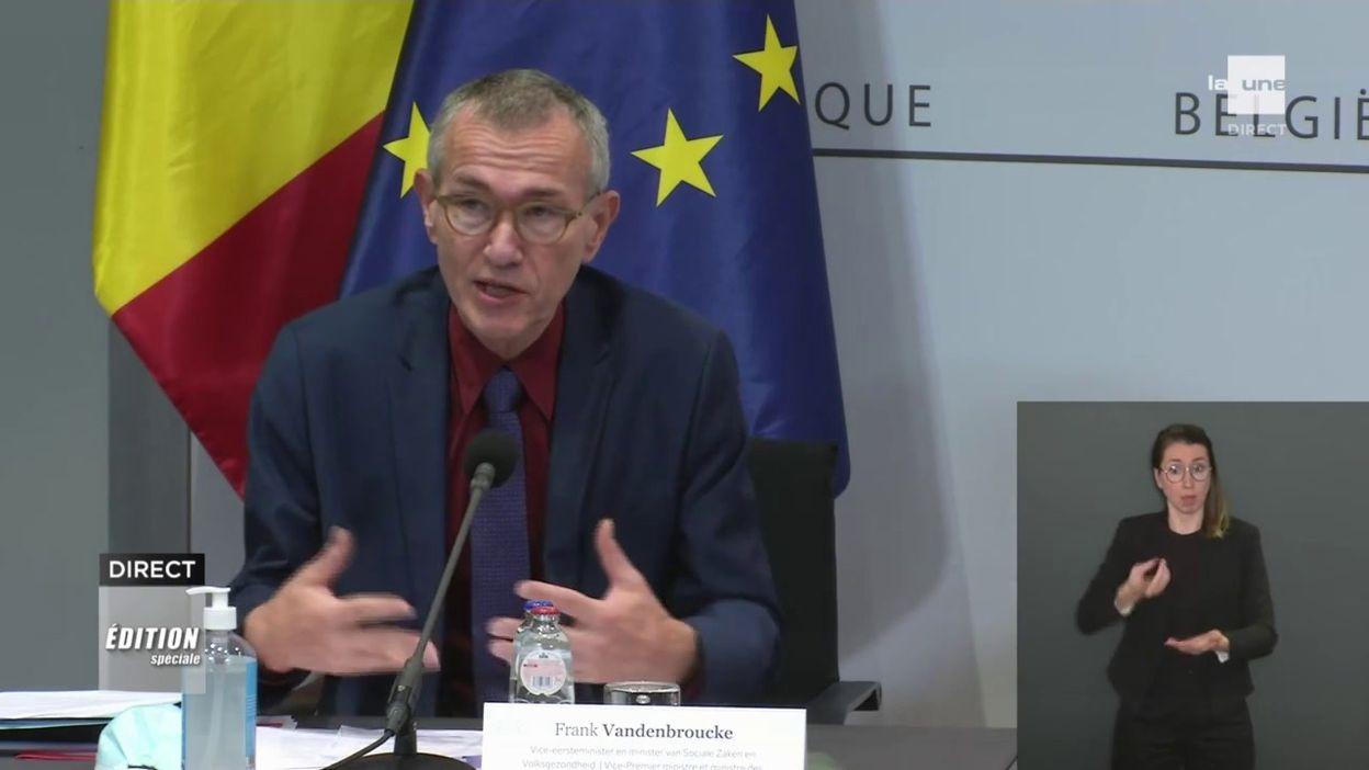 Comité de concertation 27/11/2020 : un message difficile, mais des règles importantes (Frank Vandenbroucke)