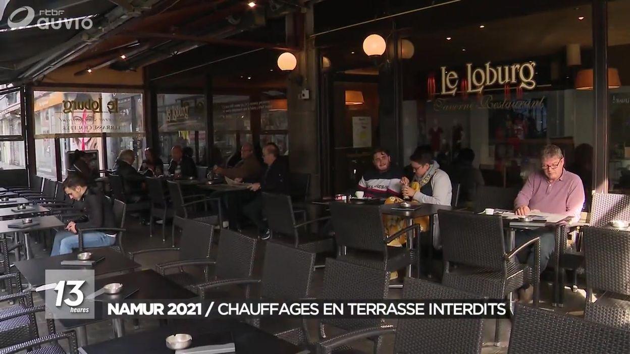 Namur 2021 : les chauffages en terrasse seront interdits