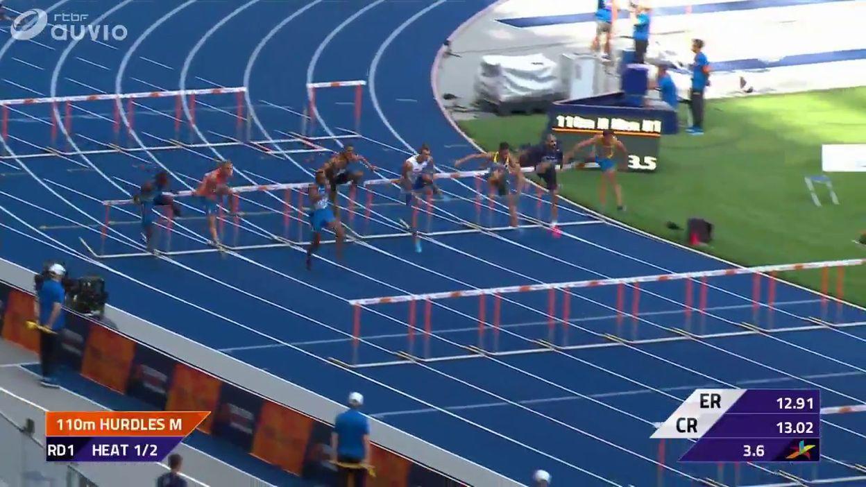Obasuyi, premier non qualifié pour les demi-finales du 110m haies