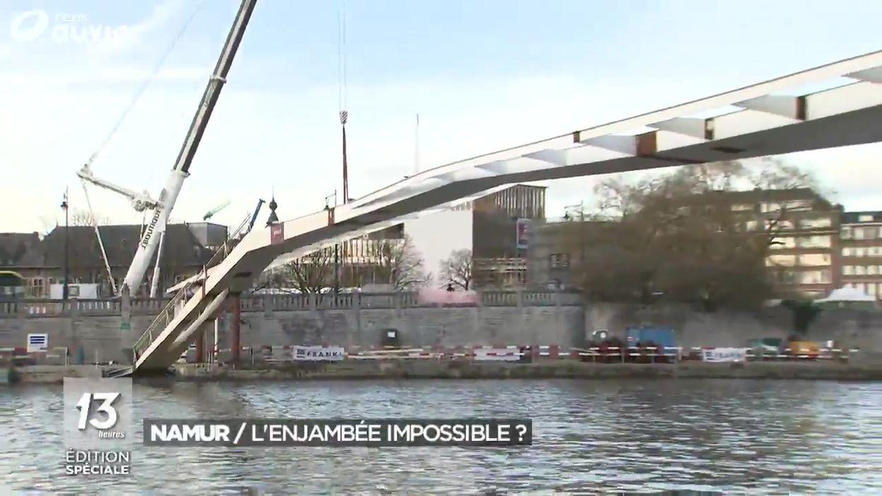 Inauguration reportée de l'enjambée à Namur