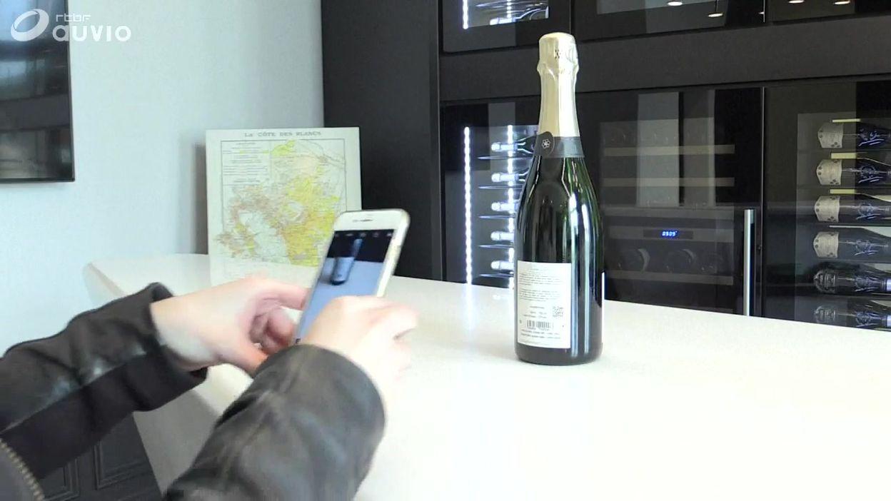 Les vins de Champagne connectés