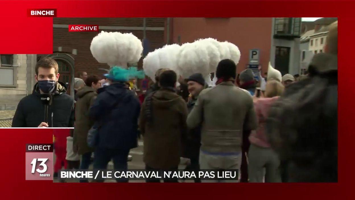 Binche : le carnaval n'aura pas lieu
