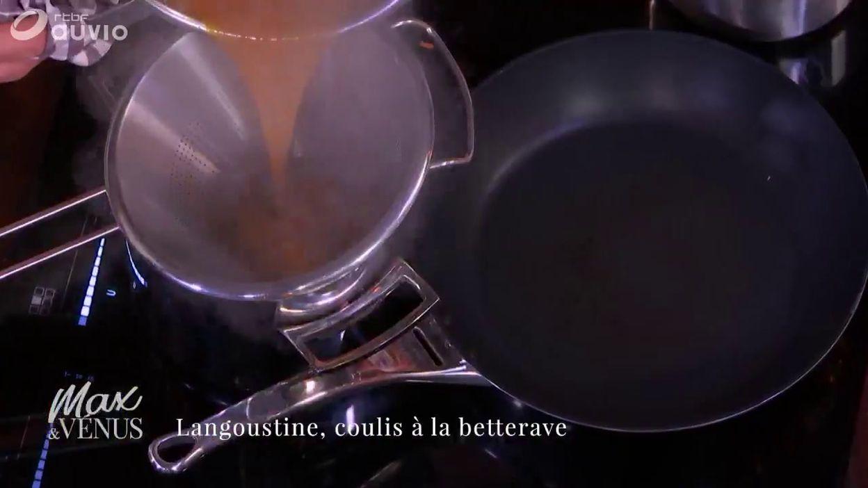 Tuto : langoustine, coulis à la betterave