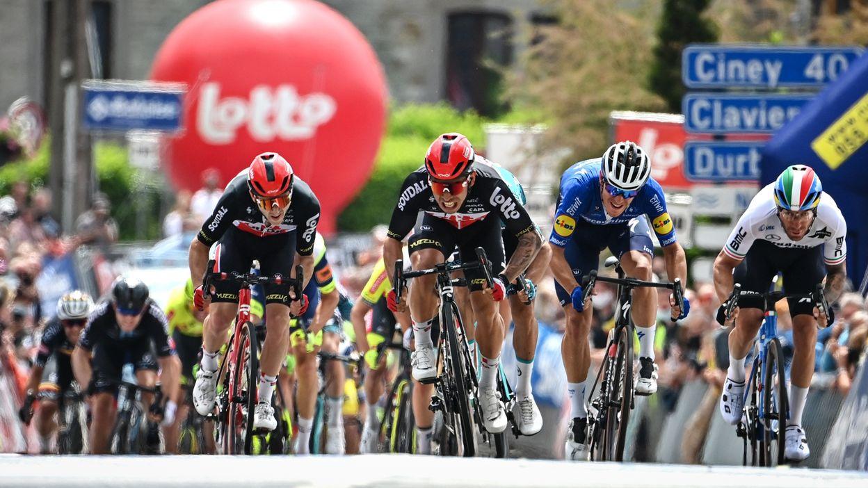 Tour de Belgique : Caleb Ewan s'impose à Hamoir, Remco Evenepoel reste leader