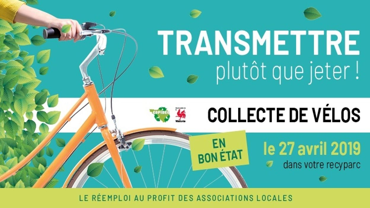 Grande collecte de vélos dans les recyparcs !