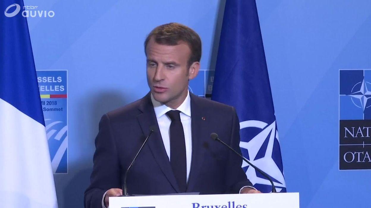 Emmanuel Macron à l'OTAN: