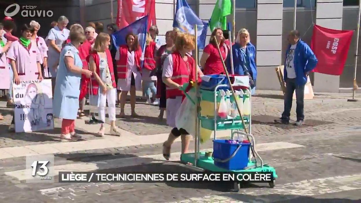 Grève des techniciennes de surface au Palais de Justice de Liège