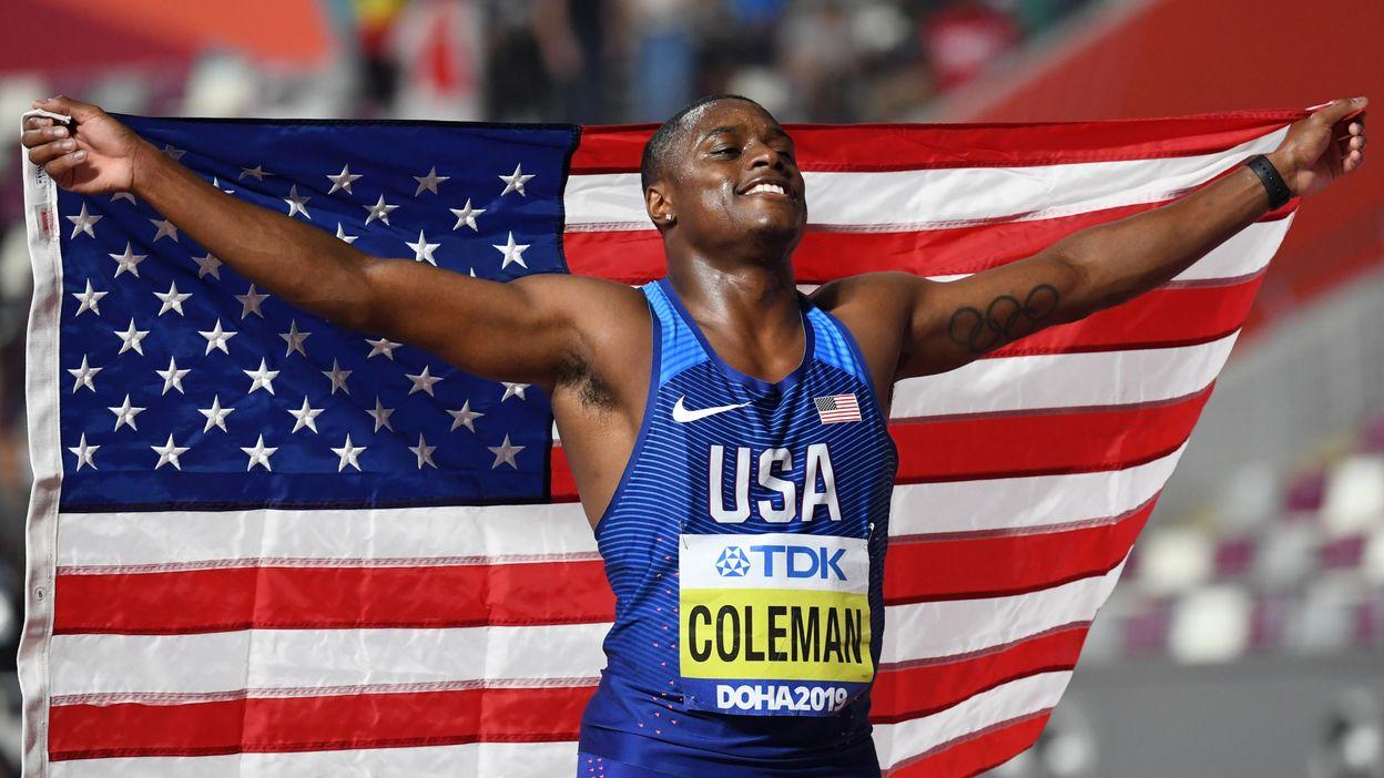 Christian Coleman champion du monde du 100m en 9.76