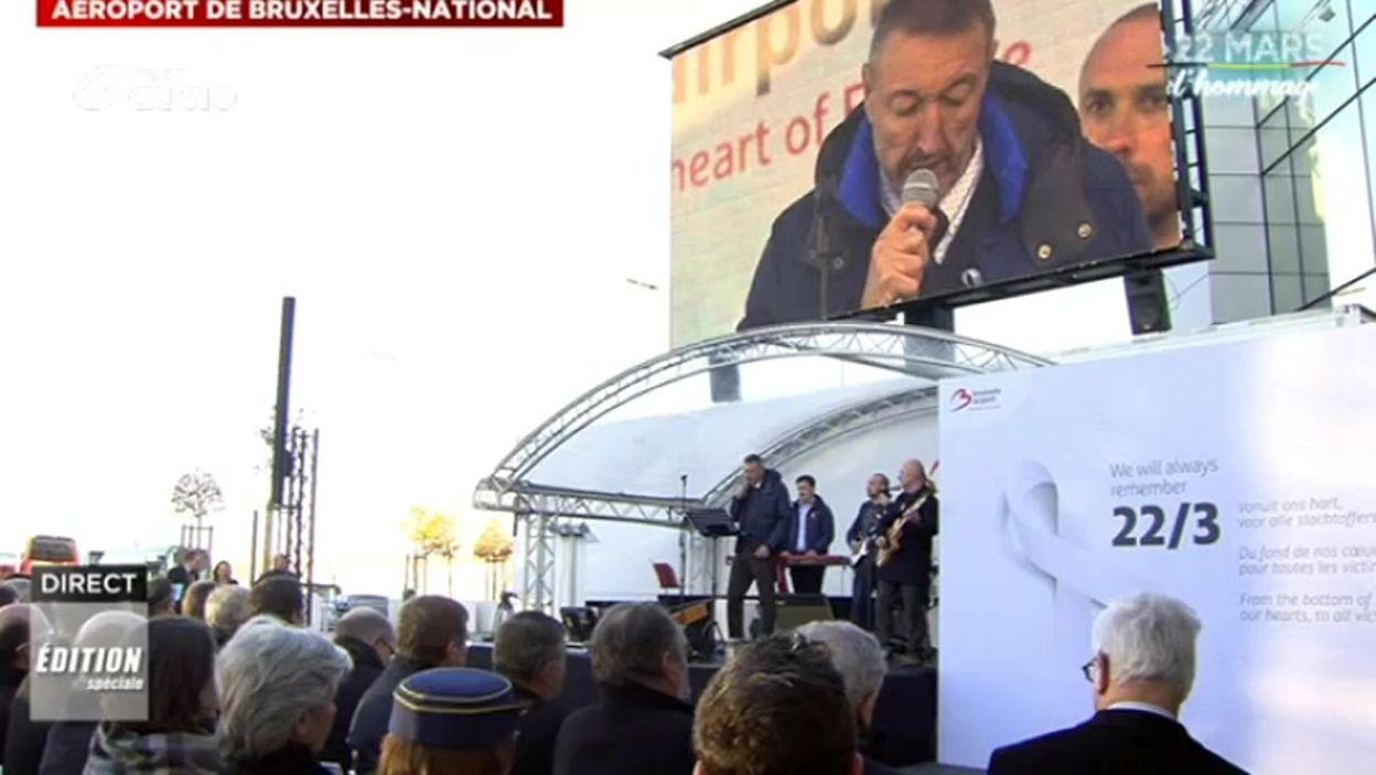 Eddy Van Calster chante pour sa femme, décédée lors des attentats