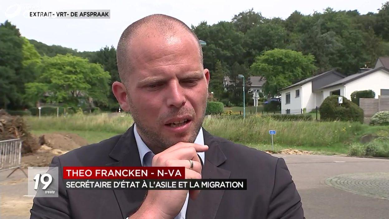 Theo Francken veut l'arrêt total de la migration illégale