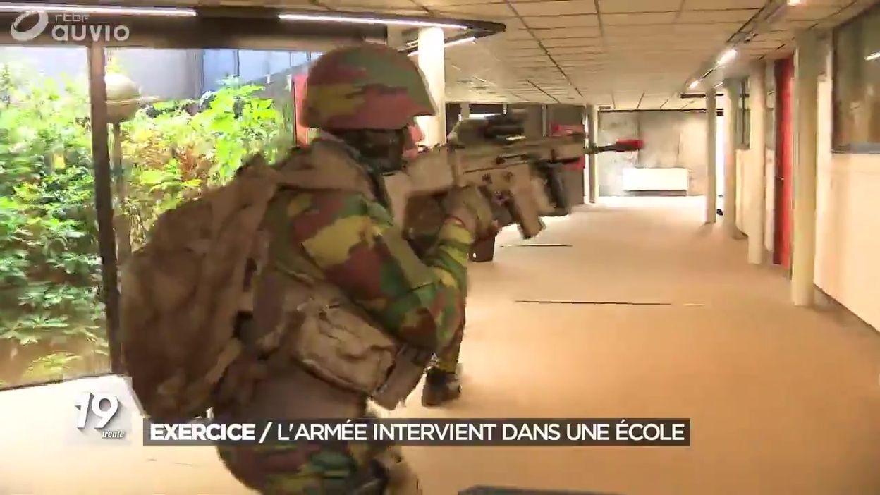 Exercice anti-terroriste : l'armée intervient dans une école