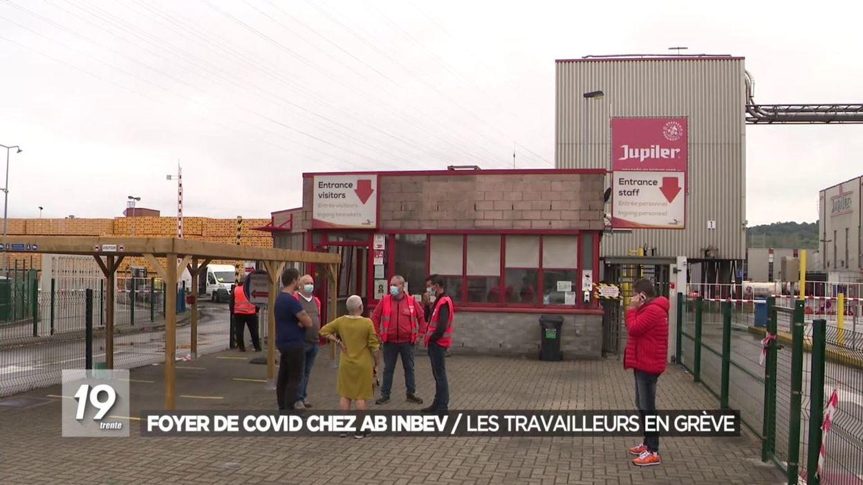 Foyer de Covid chez AB Inbev/les travailleurs en grève