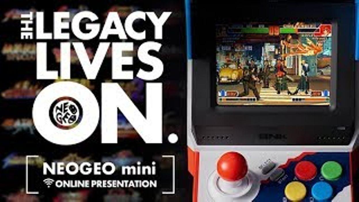 neogeo mini online presentation the legacy lives on 11 06 2018