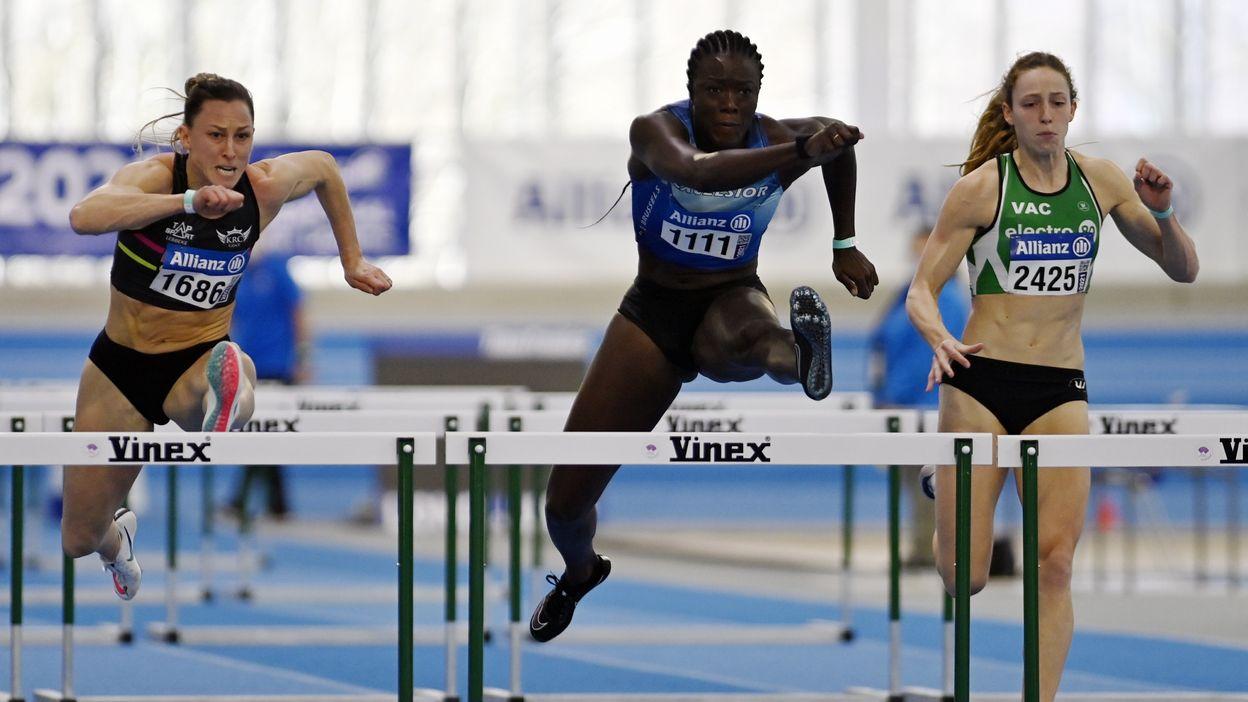 Anne Zagré Championne de Belgique du 60 mètres haies
