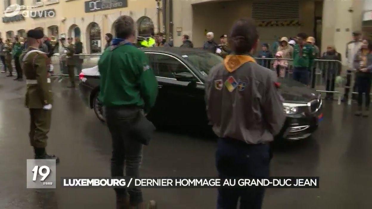 La famille royale au Luxembourg pour rendre un dernier hommage au grand-duc Jean