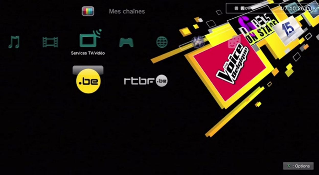 Application RTBF Playstation