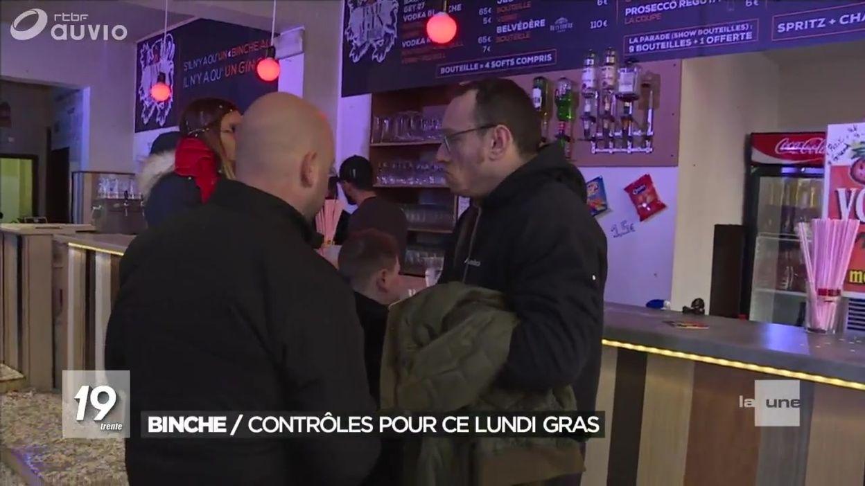 Des cafés binchois contrôlés à la veille du Mardi gras