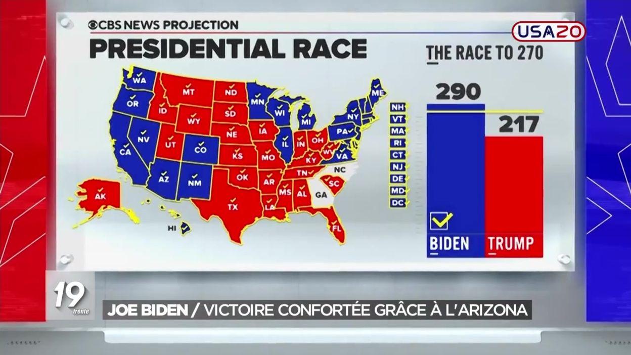 Etats-Unis : Joe Biden conforte sa victoire grâce à l'Arizona