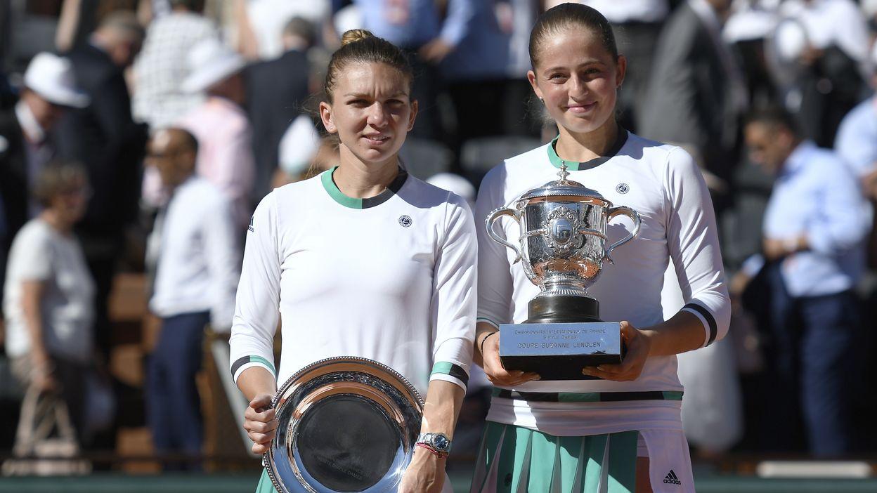 Finale Dames : Jelena Ostapenko - Simona Halep
