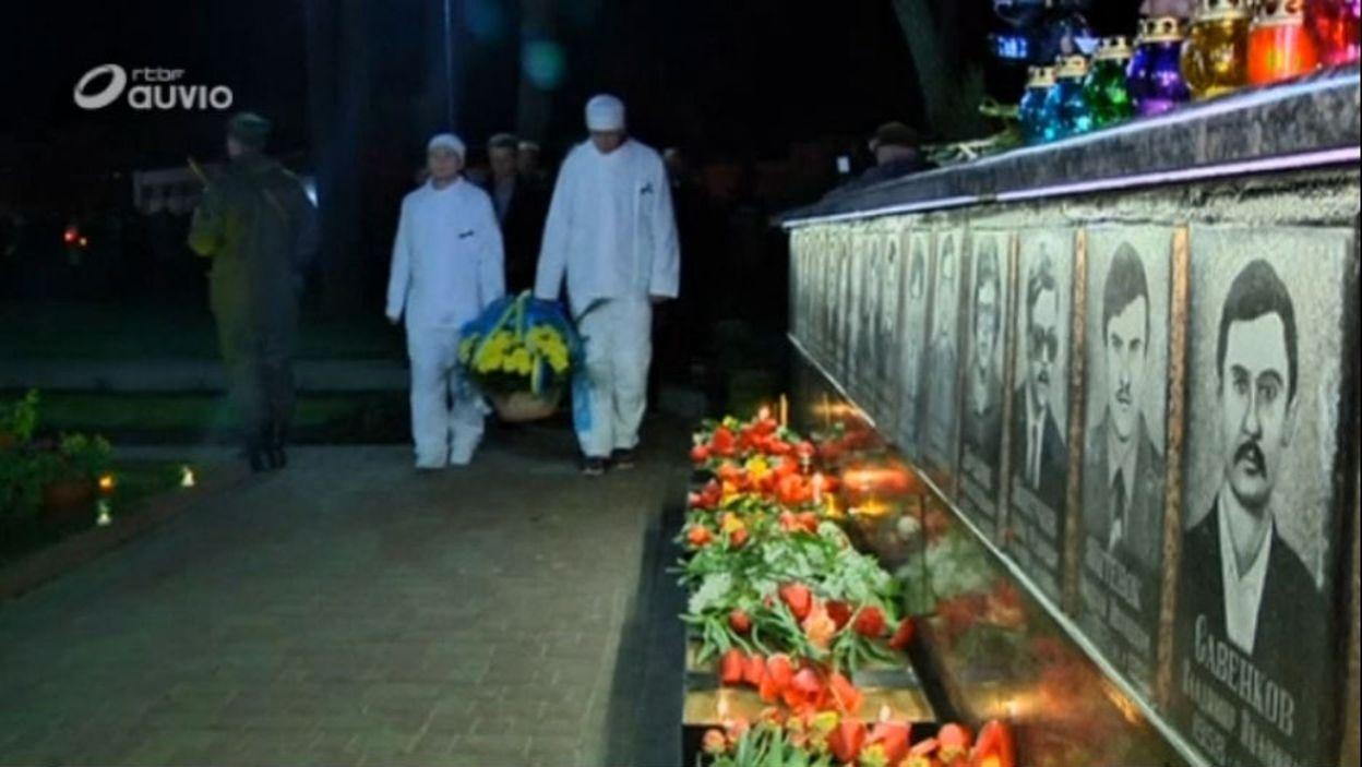 Tchernobyl : la ville de Slavutych rend hommage