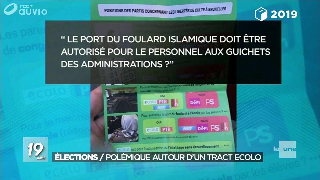 Bruxelles : polémique autour d'un tract distribué par Ecolo