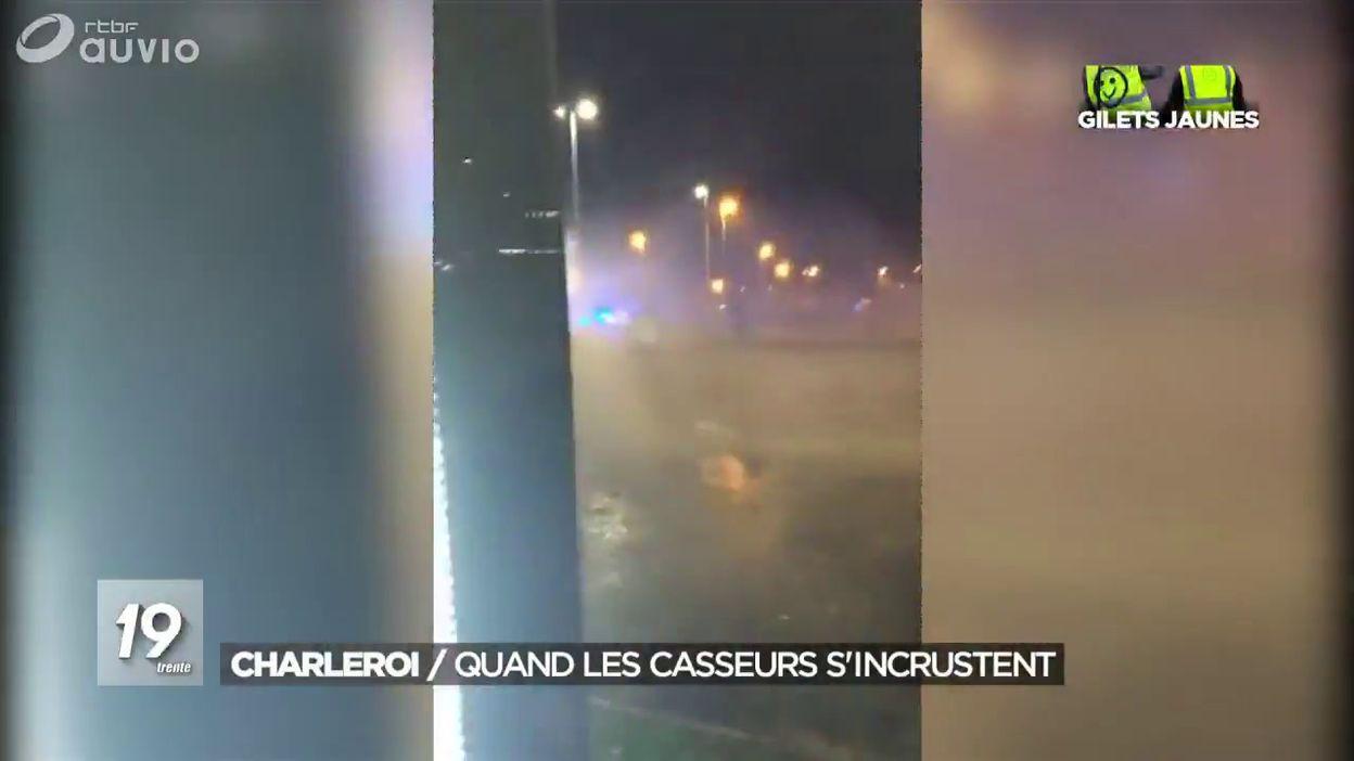 Gilets Jaunes: violences à Charleroi