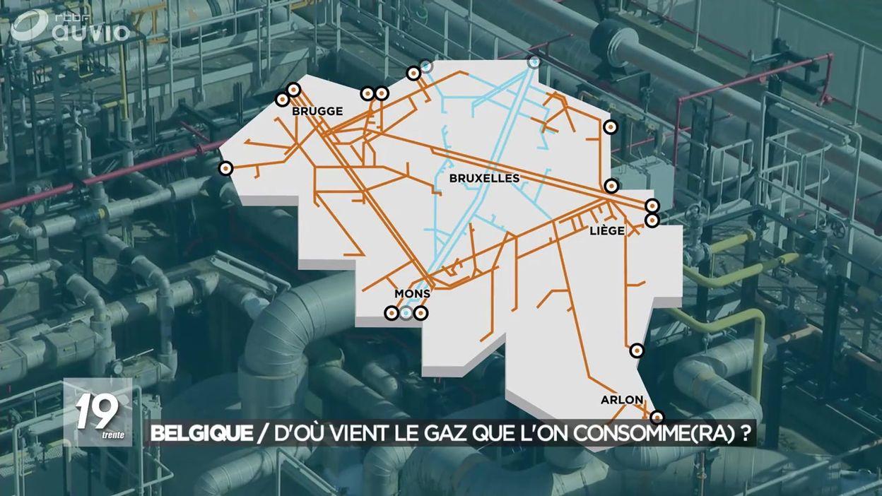 Belgique : les provenances du gaz  20/09/2018