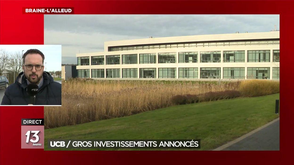 UCB : de gros investissements annoncés