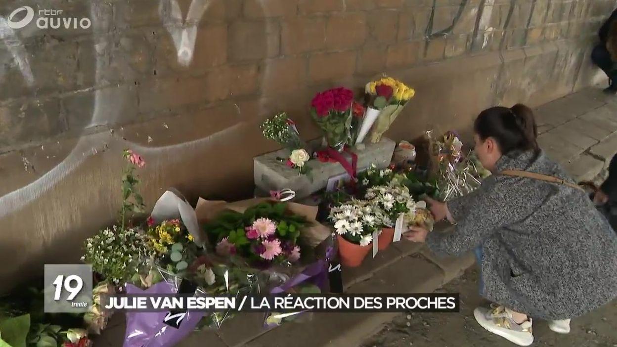 Julie Van Espen : la réaction des proches